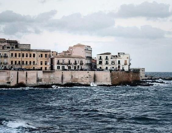 Stormy sea in Italy
