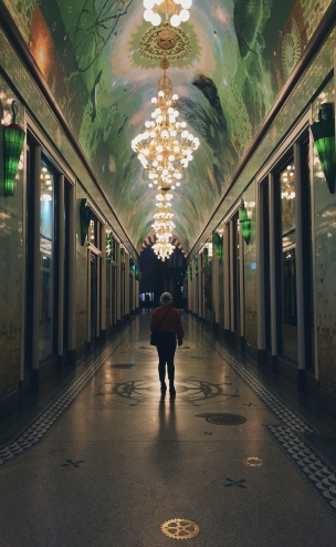 In Paris, even an abandoned hallway has an eerie beauty